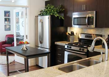 model home staging - kitchen